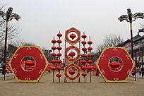 春节灯笼景观