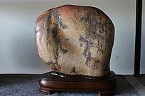褐色葡萄树叶纹奇石