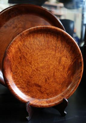 红木木雕圆盘