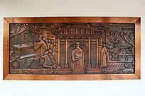 铜雕传统文化墓旁守孝