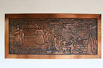 铜雕传统文化怒弹国丈