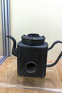 阿文方形碳火壶黑色