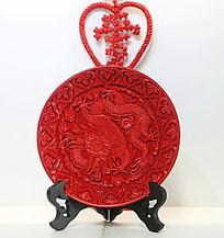 红盘雕刻中国龙