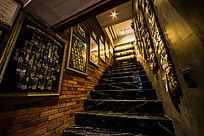 酒吧楼梯文化陈列展示