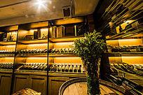 酒窖实木陈列柜台