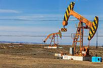 克拉玛依油田的抽油机