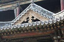 古建筑屋檐局部