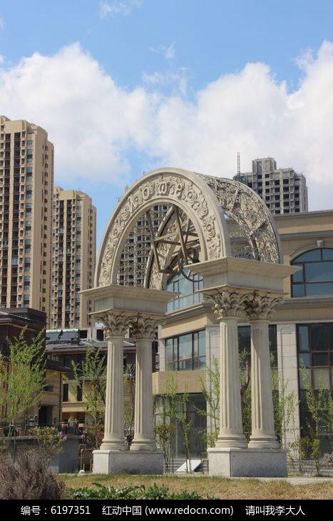 欧式拱形建筑图片