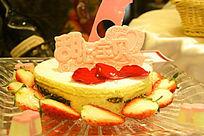 甜心宝贝草莓水果蛋糕