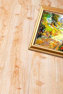 油画与木地板