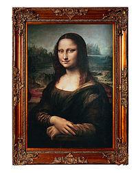 达芬奇油画蒙娜丽莎高清大图