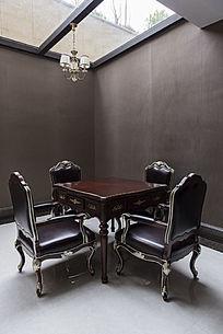 高档棋牌室麻将桌喝茶聊天桌
