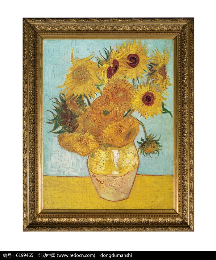 访问图片主题是梵高油画十四朵向日葵,编号是6199465, 文件格式是jpg