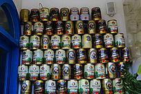啤酒罐的装饰