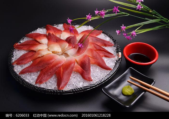 日式料理北极贝刺身图片