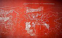 十渡景区墙画