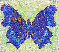 数码印花蝴蝶