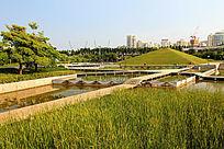 厦门海湾公园绿色金字塔