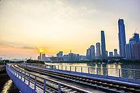 珠江边的电车轨道