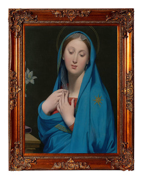 安格尔油画圣母玛利亚