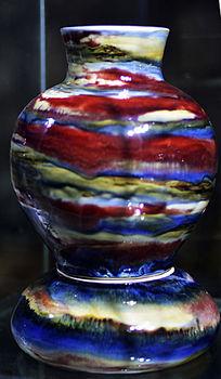 多彩胶釉套瓶
