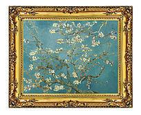 梵高 开花的巴旦杏树枝