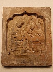 金代时期浮雕琴棋书画人砖
