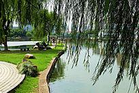 宁波北仑公园湖景