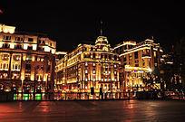 上海外滩万国建筑群夜景