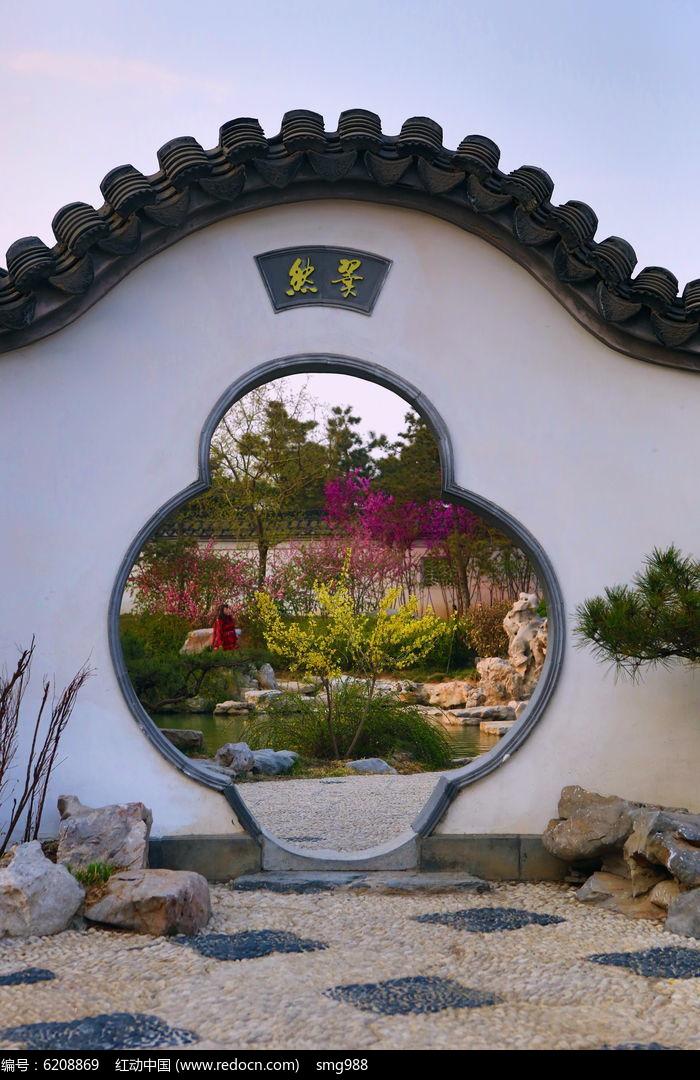 苏州园林风格拱门图片,高清大图_园林景观素材