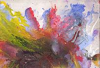 电分流彩抽象艺术画