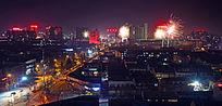 过年中的城市夜景