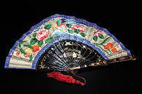 漆器描金富贵花纹折扇