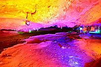 炫丽景观的溶洞