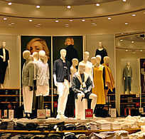 休闲服装卖场