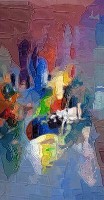 玄关背景墙抽象油画