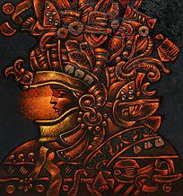 油画女人太阳神祭司