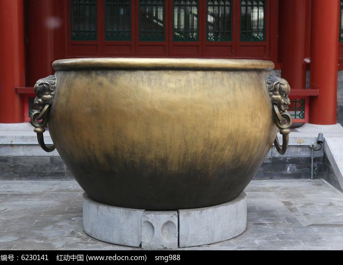 古代消防的水铜缸图片