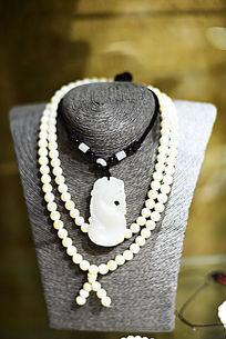 双珠串砗磲项链