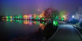 无锡蠡湖夜景一角高清图片