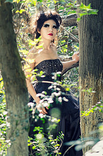黑色婚纱摄影
