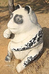 小熊猫的雕像