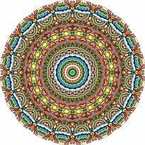 穹顶图案圆形数码印花