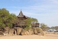 海边的凉亭建筑摄影