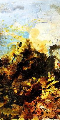 玄关背景墙壁画抽象油画