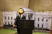 奥巴马演讲泰迪熊