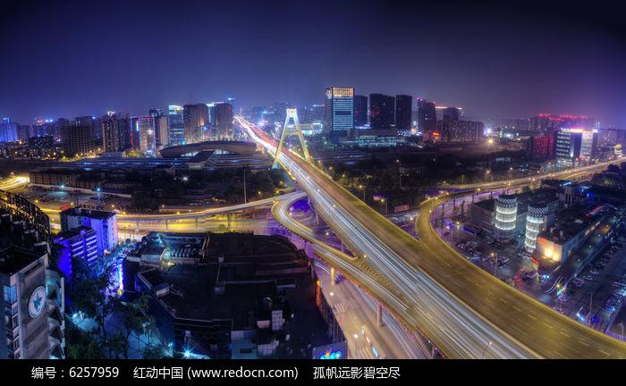 成都人民南路三环立交全景高清图片下载 红动网