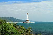 三亚海滨海上观音圣像