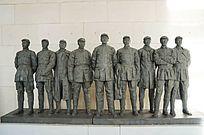 红军长征中的将领塑像