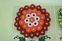 精美的毛线编织花卉图案